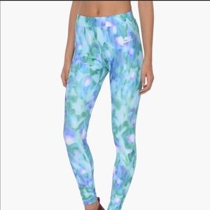 XL teal blue Abstract Pattern Nike leggings style.